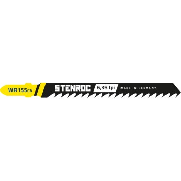 STENROC Jigsaw blade HOUT (5pcs) - WR155CV, 100 mm x 6.35tpi (EX IR 10504221) Jigsaw accessories