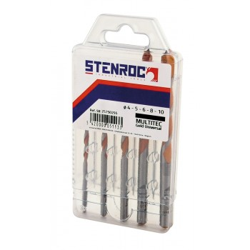 STENROC MULTITEC Gold universal drill SET 4+5+6+8+10 mm Home