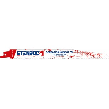 STENROC Reciprocating saw blade DEMOLITION (3pcs) - UM717BI, 225x22x1.57mm x 8-10tpi (EX LX20597-960R) Home