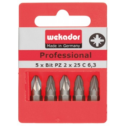 WEKADOR Set van 5 bits Top Five - Professional - PZ3 - 25 mm - prijs per set Home