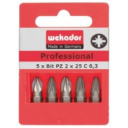 WEKADOR Set de 5 embouts Top Five - Professional - PZ2 - 25 mm - prix par setAccueil