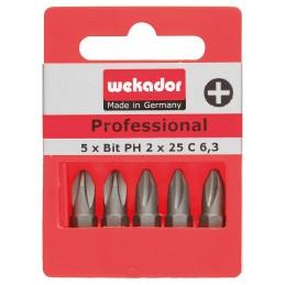 WEKADOR Set de 5 embouts Top Five - Professional - PH2 - 25 mm - prix par setAccueil