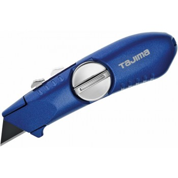 TAJIMA Tajima cutter extendable knife, (blue), with 3 trapezoidal knives V-Rex Knives, cutters and blades