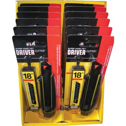 TAJIMA DRIVER CUTTER 18 mm lock button + 13 RAZAR BLACK knives Knives, cutters and blades