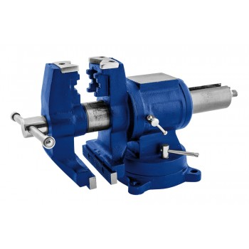 STENROC Parallel MULTI vice (turntable + jaws turning) + anvil - 100 mm Spring Clamp