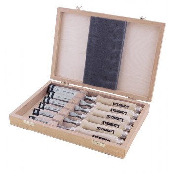 STENROC Set stitch chisel (wooden box) WH300 - 6,10,12,16,20,26 mm Home