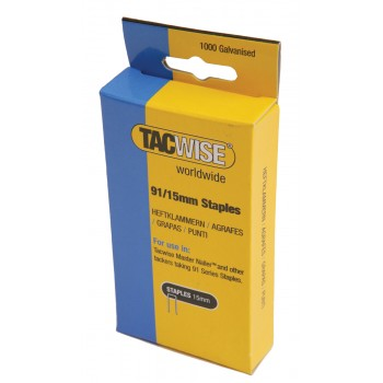 TACWISE Flat wire staples 91-25 mm per 1000 pcs Home