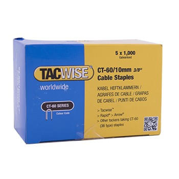TACWISE Cable staples 60-12 mm - 5x1000 pcs. (Ex. RP 45-8) Home