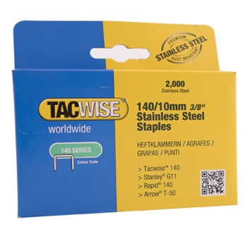 TACWISE Flat wire staples 140-10 mm - stainless steel - 2000 pcs. Home