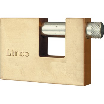 LINCE Padlock for metal shutters - brass - 70 mm Padlocks
