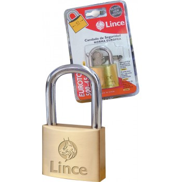 LINCE Cylinder padlock EUROTOP - solid brass - EN-12320 - 55 mm Home