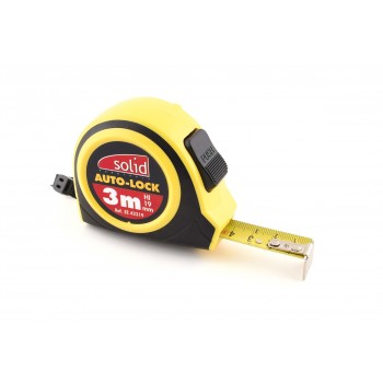 SOLID Rollmeter 3 m x 19 mm ABS Bi-component Home