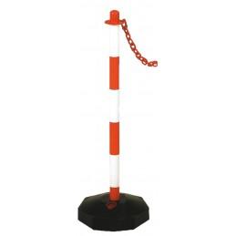 VINMER Poteau de balisage 90 cm - rouge-blancSignalisation