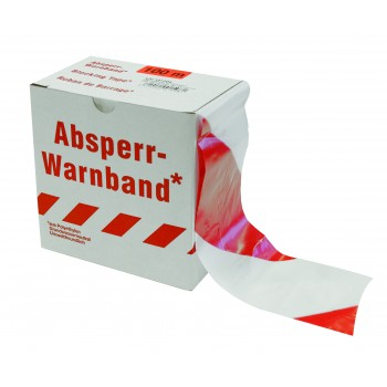COLOR LINE Signaling tape EXTRA 100 m x 80 mm white-red Road signs