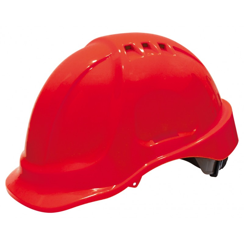 SECURX Safety helmet turn-lock - RED Helmets of construction site
