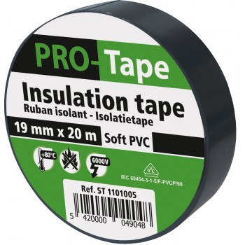 PROTAPE Insulation tape 19 mm x 20m x 0.15mm, VDE - black Tapes
