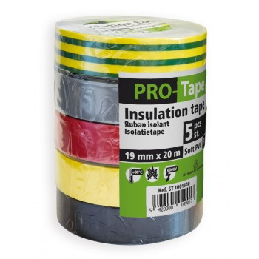 PROTAPE Ruban isolant 19 mm x 20m x 0,15mm, VDE - 5 couleursAdhésifs et protection