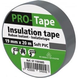 PROTAPE Ruban isolant 19 mm x 20m x 0,15mm, VDE - grisAdhésifs et protection