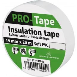 PROTAPE Ruban isolant 19 mm x 20m x 0,15mm, VDE - blancAdhésifs et protection
