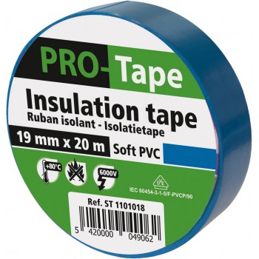 PROTAPE Ruban isolant 19 mm x 20m x 0,15mm, VDE - bleu clair Adhésifs et protection