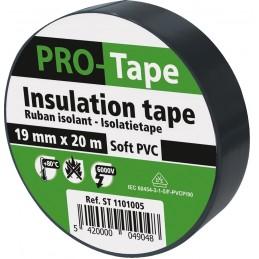 PROTAPE Ruban isolant 19 mm x 20m x 0,15mm, VDE - noirAdhésifs et protection
