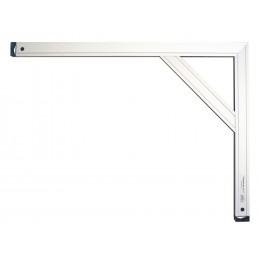 PREMIUM ALU Brick shop hook alu profile with intermediate support - 1000 x 1000 mm Squares