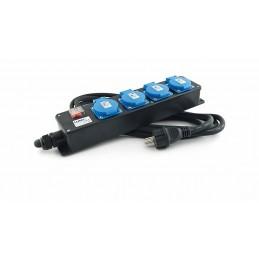 LUMX Bloc multiprises - 4 prises - 10 m câbleProlongateurs, rallonges & raccordements