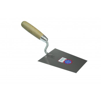 SCHWAN Plaster pickup stainless steel with right angles 160 x 115-85 x 1.0 mm Stainless steel trowels