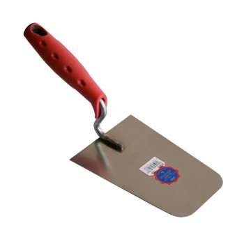 SCHWAN Plaastertruel stainless steel SOFT GRIP rounded corners 180 x 125-95 x 1.0 mm Soft grip trowels