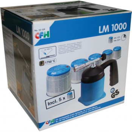 CFH Soldering lamp LM 1000 + 5 cartridges Soldering lamps