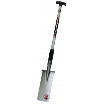"SOLID Plant and earthworker's shovel with welded foot irons - with T-fibreglass shaft TYPE """"F8100"""""" Home"