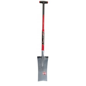 "SOLID Groundworkers' walk with straight cut and welded foot irons - with T-glass fibre handle TYPE """"F5500"""""" Home"