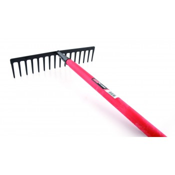SOLID rake with straight teeth - with fiber handle Home