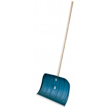 SOLID Snow plough in Polypro - 500 x 390 mm - with wooden handle Spades and shovels