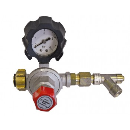 MAGMA Pressure regulator with adjustable pressure, with hose rupture valve and pressure gauge - 0.5-4 bar Home