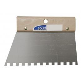 SOLID comb steel varnished sheet 200 mm - 6 x 6 mm C2 Painter's Knives