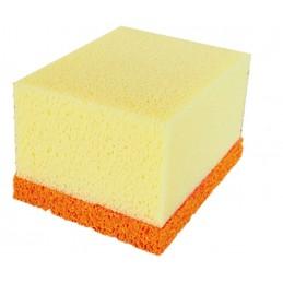PINGUIN Synthetic tile sponge + part orange rubber 140 x 110 x 88 mm Sponges and tea towels
