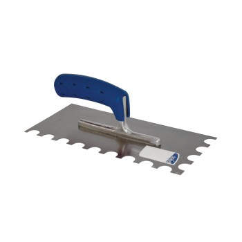 SOLID Toothed trowel 280x 130 - N°32 SOFT GRIP - steel Home