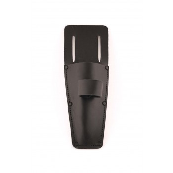 SOLID Scissors & Pressure roll holder in black leather Home