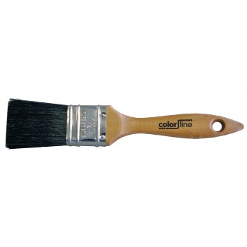 COLOR LINE Flat paint brush 2 1-2, black bristle Flat brushes