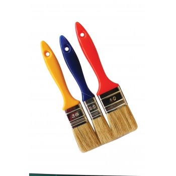 COLOR LINE Lot of 3 flat brushes 20-30-40, PVC handle Flat brushes