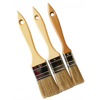 COLOR LINE Lot of 3 flat brushes 20-30-40, wooden handle Flat brushes