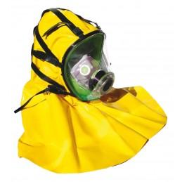 BLS Masque panoram. Securx-BLS 5400-C , Silicon rubber avac cape, filtre DINProtection respiratoire