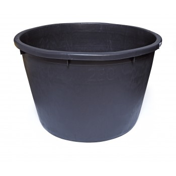 SOLID Mortar tank round - PE 230 L - black Buckets and tubs