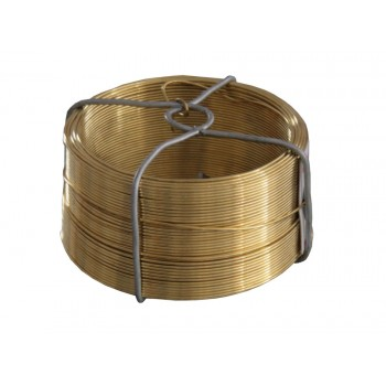 SOLID Binding thread in brass - Ø 0.8 mm x 50 m Tools for fences