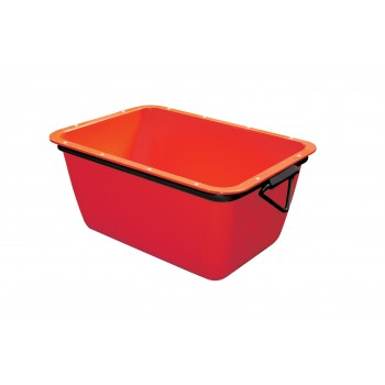 WEMAS Mortar container 200 L - red - rectangular Buckets and tubs