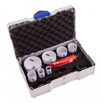 STENROC Hole saw set SK8-PREMIUM - Sanitary 9-piece Systainer set Home