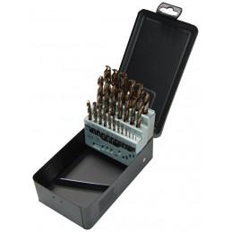 STENROC HSS-Cobalt DIN 338 - 25 pcs. 13x0.5 Metalbox set (EX LA KA012250) Drills Set