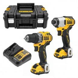 Dewalt DCK2110L2T-QW - SET 12V 3.0Ah DCD701+DCF801 Cordless-Drill-Screwdrivers