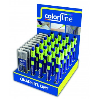 COLOR LINE Assortiment de porte-mine et mines de rechange en display: 24 X Crayon GRAPHITE DRY + 10 x mines graphitesAccueil